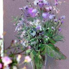 Последний #букетполевыхцветов ушедшего лета. Не оставляю надежды когда-то его закончить )) #пастель #полевыецветы #pastel #instaart