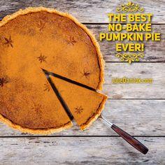 The Best No-Bake Pumpkin Pie Ever!