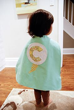 Super hero cape with embellishment.