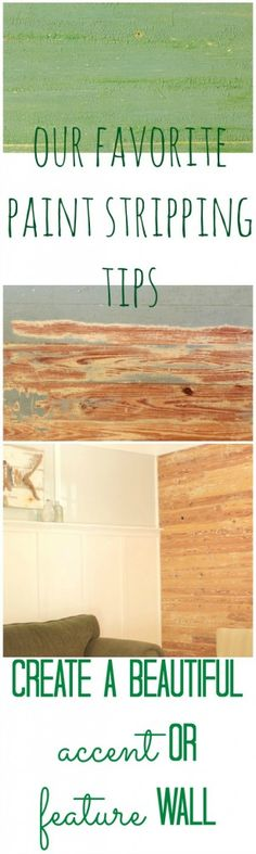 tips for paint stripping wood slat walls