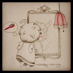 Monday morning, sketch by clim. http://bulles-de-clim.blogspot.com