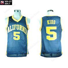 Aliexpress.com   Buy Jason Kidd 5 California Student Basketball Jerseys  Light Blue Beast Beat Throwback Edition Jerseys Wholesale Workout Shirts  from ... 18c4a0bed