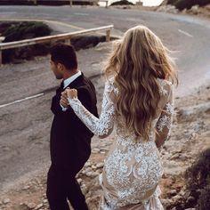 wedding   outdoor   bride and groom   long sleeve dresses   long hair  https://bestproductsfor.com/hair-grooming