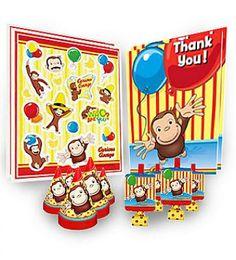 #CuriousGeorge Birthday Favor Kit Birthday Supplies, Birthday Favors, Party Supplies, Curious George Party, Curious George Birthday, Kit, Ideas, Thoughts
