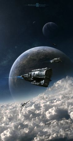 Orbital Patrol 2 by ~Camille-Besneville on deviantART Image brought to you by robotradio.com - Cosmic Streams of Consciousness - Images to listen to..