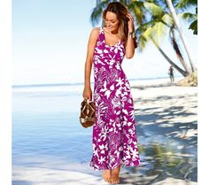 Dlouhé šaty s potiskem | blancheporte.cz #blancheporte #blancheporteCZ #blancheporte_cz #letnikolekce