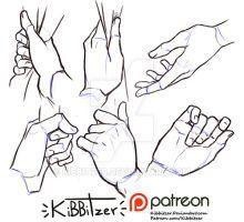 Hands reference sheet 9 by Kibbitzer