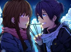 Hiyori and Yato // Noragami