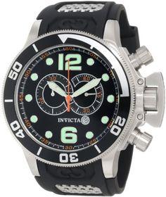Invicta Men's 6915 Corduba Collection Interceptor Chronograph Black Polyurethane Watch - http://www.specialdaysgift.com/invicta-mens-6915-corduba-collection-interceptor-chronograph-black-polyurethane-watch/