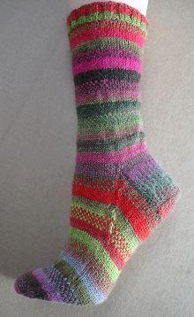 Mini Mochi 2-Color Stripe Socks free sock pattern - Crystal Palace Yarns