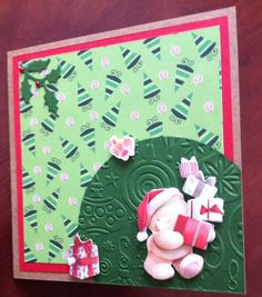 Forever friends christmas card using Marieanne Designs Holly die