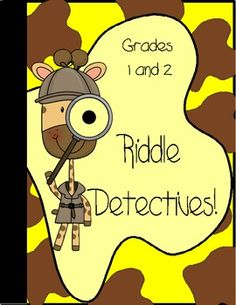 This is a cute writing activity to introduce the idea of using descripion.  Children make up riddles to share.Included:Riddle templateteacher...