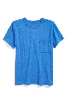 Boy's Peek Crewneck Pocket T-Shirt