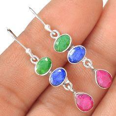 Ruby 925 Sterling Silver Earring Jewelry EE5683 | eBay