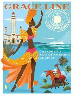 Grace Line • Caribbean South America Cruises ~ Dan Sipple