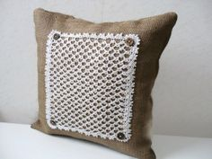 Rustic Vintage cushions with inserts.Farmhouse by TataEcoDesign, $45.00
