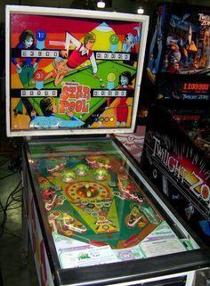Star Pool pinball machine made in 1974 by Williams Pinball Wizard, Penny Arcade, Machine Video, Arcade Games, Childhood, Play, Stars, Cool Stuff, Retro