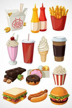 Food Stickers, Printable Stickers, Cute Stickers, Cute Food Art, Cute Art, Cute Wallpaper Backgrounds, Cute Wallpapers, Food Graphic Design, Food Icons