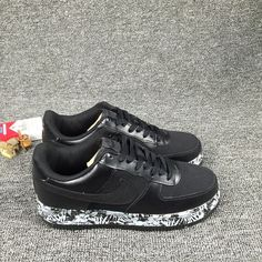 Nike Air Force 1 Low Black White Hot Fashion Runing Women Shoes #Nike #RunningCrossTraining