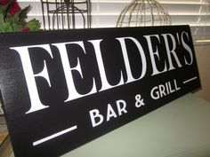 Custom Bar Sign  Personalized Groomsmen gift Beer Lover Tavern Sign Bar and Grill Sign  Family Name Sign. $34.95, via Etsy.