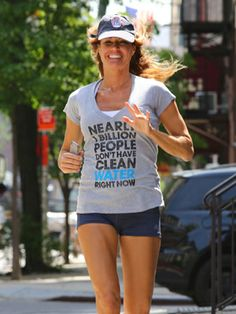Former Real Housewife Kelly Bensimon goes for a jog in New York City. Celebrity Fitness, Celebrity Workout, Kelly Bensimon, Real Housewives, Celebs, Celebrities, Housewife, Stay Fit, In Hollywood