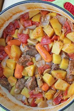 Dutch Oven Beef Stew with Butternut Squash ~ part of our 31 Days of Budget Friendly Paleo Recipes Series | 5DollarDinners.com