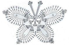 Бабочка, связанная крючком, станет прекрасной аппликацией и аксессуаром для вашей одежды. Подробная схема вязания бабочки представлена на нашем сайте.