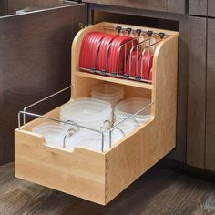 Rev-A-Shelf Wood Food Storage Container Organizer for Base Cabinets #kitchenremodel http://bestofhomeremodeling.info/home-improvement-tips-that-lead-to-success-despite-a-lack-of-knowledge/