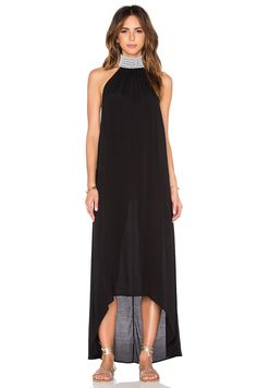 Aila Blue Jelita Maxi Dress in Black   REVOLVE