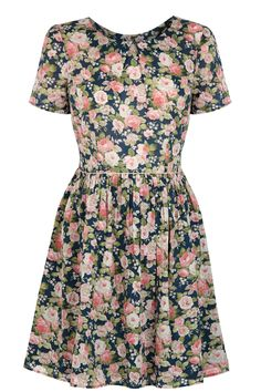 £45.00 DENIM ROSE COTTON DRESS