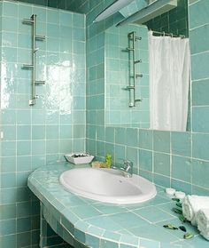 Zellige, Moroccan glazed tiles in a wide range of pearlised colours. Traditional Tile, Stucco Walls, Glazed Tiles, Resort Style, Color Of Life, Decoration, Moroccan, Sink, Bathrooms