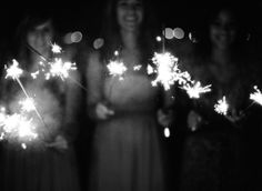 Sparklers at wedding receptions make for the prettiest pictures! Will you have sparklers at your wedding reception? It's the perfect send off for the bride and groom.