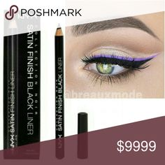 NYX - Satin Finish Black Liner New in Box. Satin Finish Black Liner. It's glide on formula allows you to perfect your precise cat-eyes or smudge it out to make a subtle smokey eye.  Price Firm, unless bundled NYX Cosmetics Makeup Eyeliner