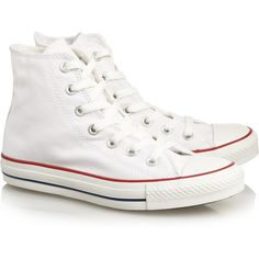 Converse Chuck Taylor canvas high-top sneakers (615 SEK) ❤ liked on Polyvore featuring shoes, sneakers, converse, sapatos, white canvas high tops, white high top shoes, converse sneakers, white canvas sneakers and high top shoes