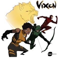 """Vixen Animated Series Brings Magic to the World of Arrow and The Flash """"The universe of Arrow and The Flash has always been figuratively animated. Now it will be literal as well. During the shows'. Serie Marvel, Marvel Dc, Dc Tv Shows, New Shows, Dc Comics, Black Comics, Gi Joe, Black Widow, Vixen Dc"""