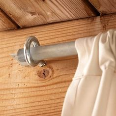 Home Decor Videos Detail of Curtain Rod Conduit in Screw Eye. Deck Curtains, Outdoor Curtains For Patio, Privacy Curtains, Outdoor Rooms, Outdoor Kitchens, Outdoor Living, Porch Privacy, Privacy Screen Deck, Outdoor Privacy