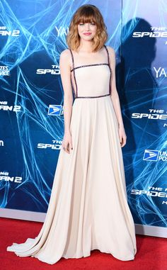 Emma Stone looks stunning in an ethereal Prada slip dress!