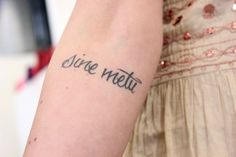 """Latin for """"Without Fear"""" Saw this a while ago on FP blog. Love the font & tat."""