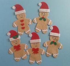 Five Christmas Gingerbread Men Felt Board Magic