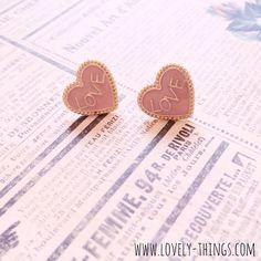 Love Ohrstecker ♡ Love Earrings // www.lovely-things.com #lovelythingscom