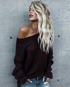PREORDER - Daytona Knit Sweater - Maroon