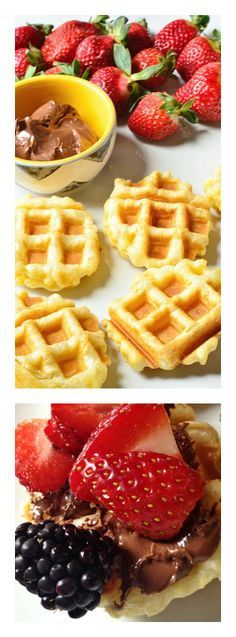 Puff Pastry Waffles with Nutella & Fruit at ReluctantEntertainer.com
