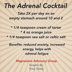 Fatigue remedies for men and women Adrenal fatigue cocktail