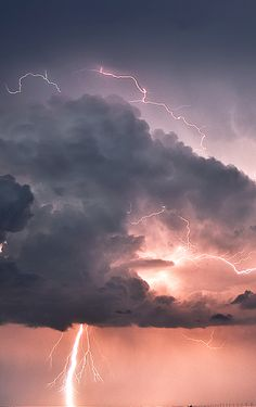 His lightnings light the world; The earth sees and trembles.  Psalm 97:4