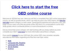Free GED online course