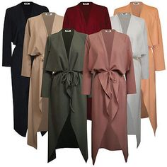 Duster Vest Long Duster Coat Waterfall Duster Coat Waterfall Jacket Denim Coat Maxi Shirt Dress Looks Long Sleeve Travel Wear Blazers, Summer Coats, Maxi Shirt Dress, Denim Coat, Chic Outfits, Hijab Fashion, Coats For Women, Duster Coat, Casual