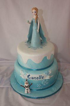 Frozen Cake - www.suikerbekkie.co.za Frozen Cake, Cakes, Desserts, Wedding, Food, Tailgate Desserts, Valentines Day Weddings, Deserts, Cake Makers