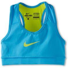 8654a8910d7e0  11.99 Nike Kids Pro Ya Hypercool Bra (Little Kids Big Kids) (Vivid  Blue Venom Green Venom Green) Girl s Bra