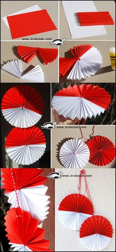 S Paper Crafts For Kids, Preschool Crafts, Diy And Crafts, Arts And Crafts, Handmade Christmas Decorations, Patriotic Decorations, Kirigami, Indonesian Decor, Independence Day Activities