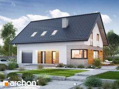 Projekt domu Dom w zdrojówkach - ARCHON+ Home Fashion, Garage Doors, Cabin, Mansions, House Styles, Outdoor Decor, Home Decor, House 2, World
